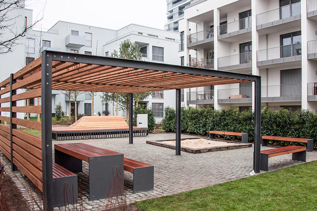 Pergola - MMS Moderner Stahlbau + Bauelemente